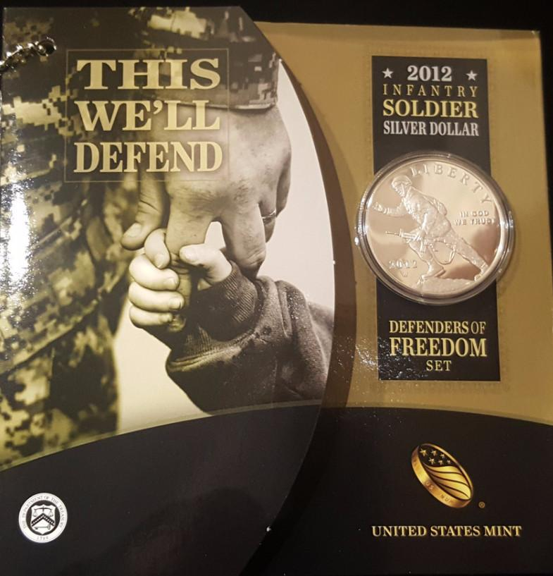 2012 Infantry Commemorative Silver Dollar - US Infantry Commemorative Silver Dollar