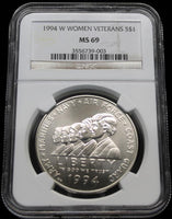 Commemorative Silver Dollars - 1994 Women In Service Commemorative Silver Dollar