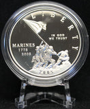 Commemorative Silver Dollars - 2005 Marine Corps 230th Anniversary Silver Dollar