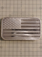 Custom Engraved Flag Bar 1oz .999 Fine Silver