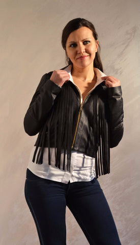 "Short jacket with fringes ""Simona"""