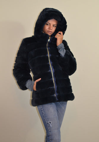 Fur coat double face