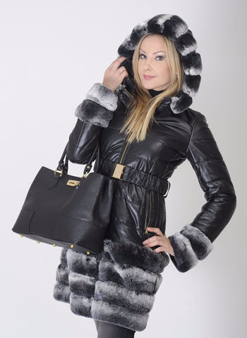 Mod.410 Coat with fur trim Rex