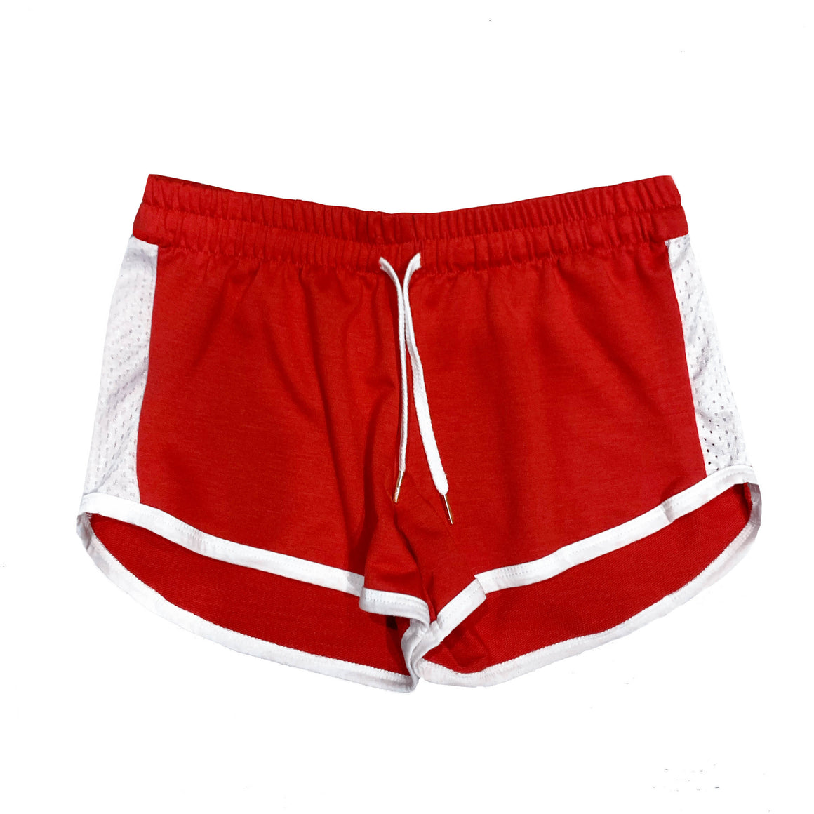 Women's Contrast Mesh Detail Shorts