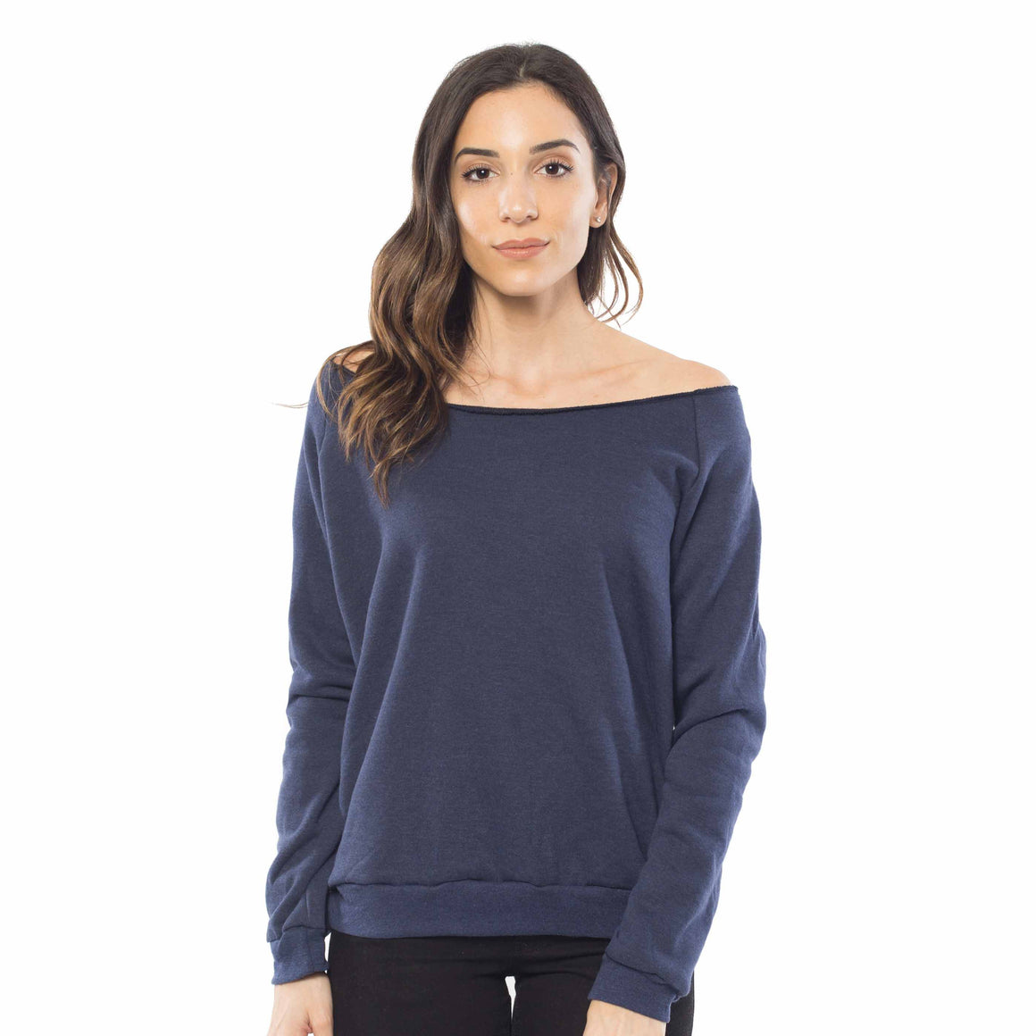 Women's Fleece Off Shoulder Pullover Sweatshirt