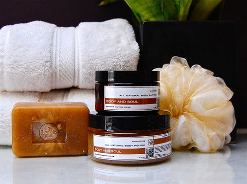 BODY AND SOUL Gift Set Almond Vanilla Clove
