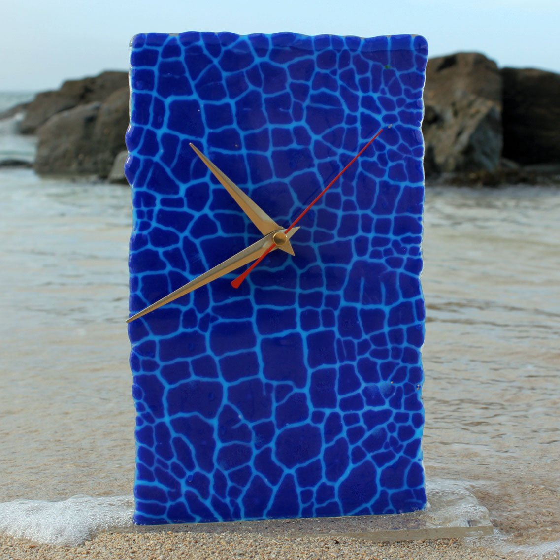Fused Glass Clock by Connemara Blue