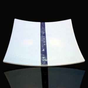 white stripe plate