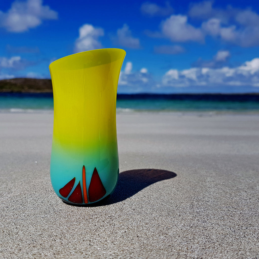 'Summer' - Fused Glass Vase