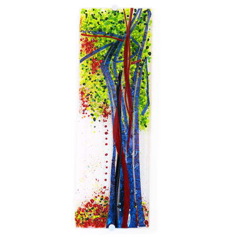 'Autumn Orchard II' - Fused Glass Wall Panel