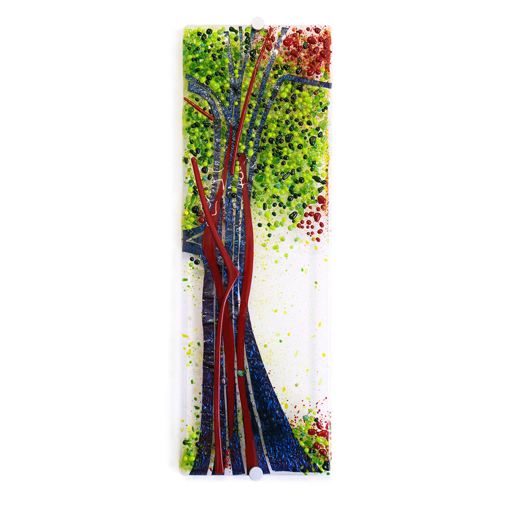 'Autumn Orchard I' - Fused Glass Wall Panel