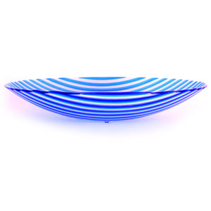 'Blue Stripy' - Fused Glass Bowl