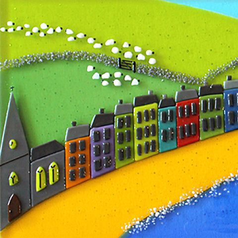 'Clifden Scene' - Fused Glass Wall Panel