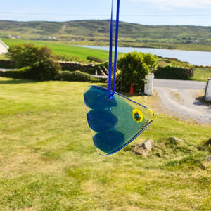 'Blue Fish' - Fused Glass Hanging Decorations