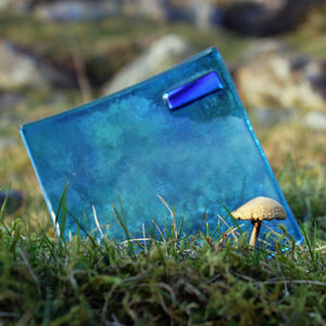 Killary Fjord fused glass plate by Connemara Blue