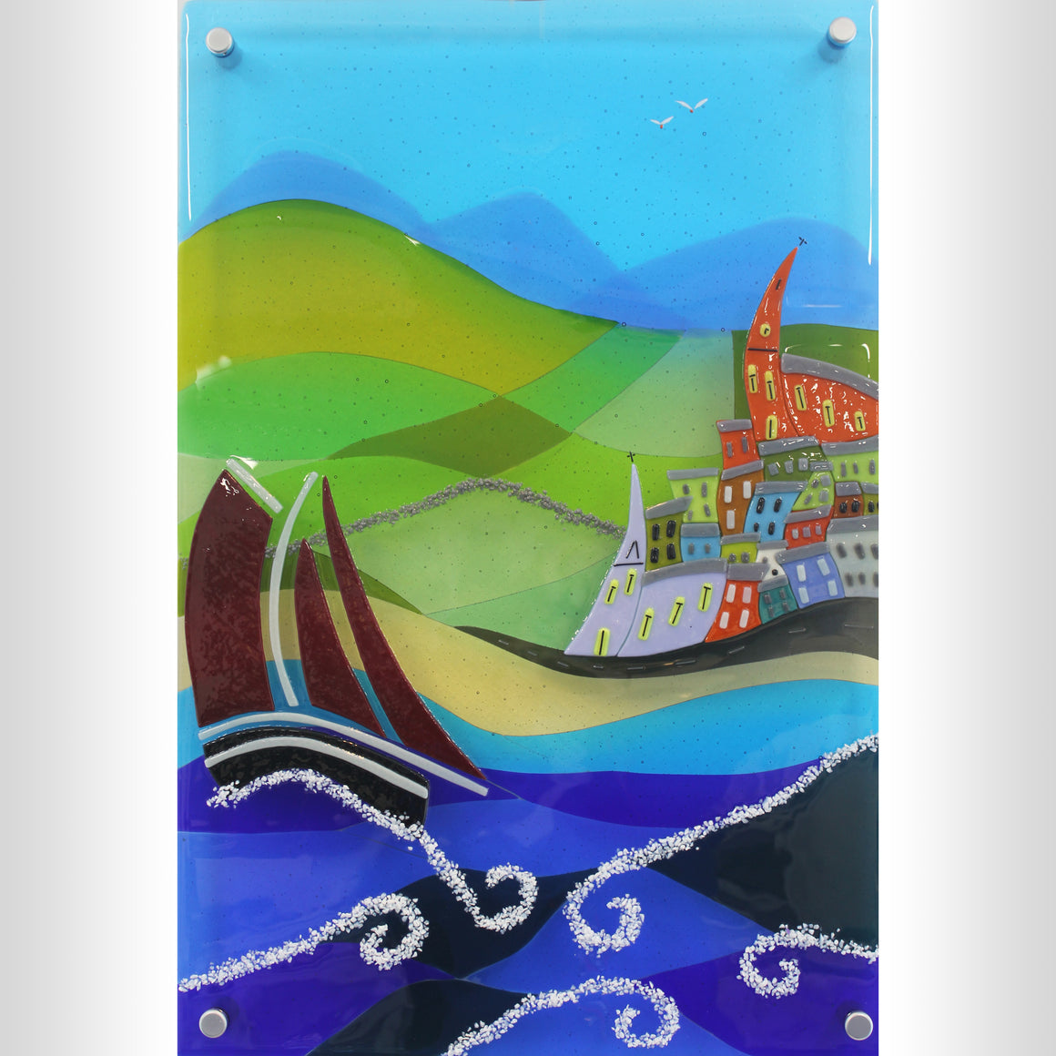 'MagicTown' - Fused Glass Wall Panel