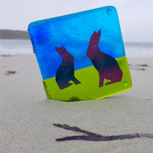fused glass coaster by Connemara Blue