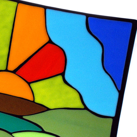 'Sunrise' - Fused Glass Plate