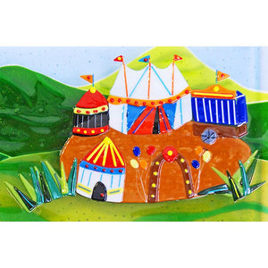 Detail of Nellie's circus destination, taken from the glass wall panel Nellie the Elephant
