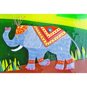 Detail of Nellie the Elephant, taken from the glass wall panel of the same name