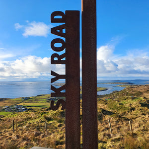 The iconic Sky Road sign, Clifden, Connemara
