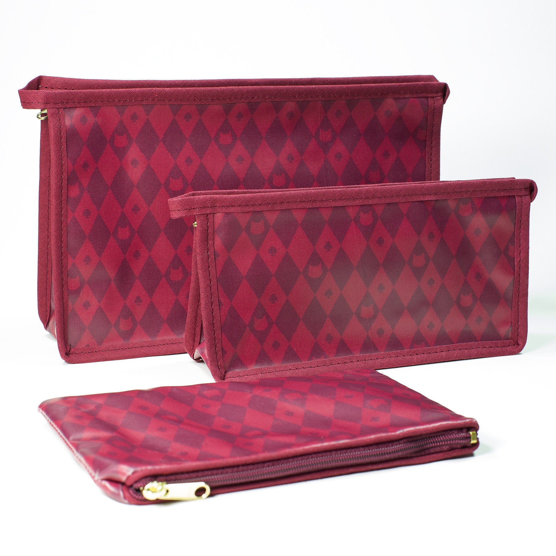 Lady Dinahs Exclusive Cosmetic Bags - burgundy