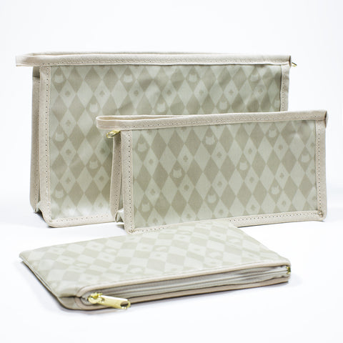 Lady Dinah's Harlequin Pattern Toiletry Bags and Purses