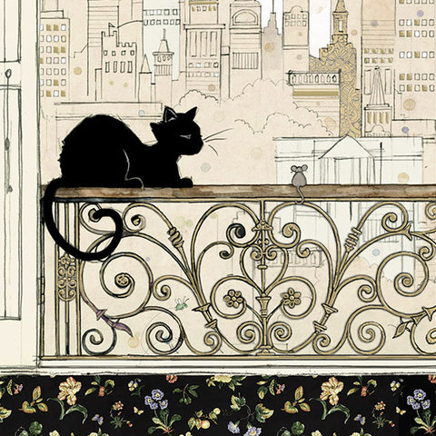 London Cat Cafe - Greeting Card - City Cat