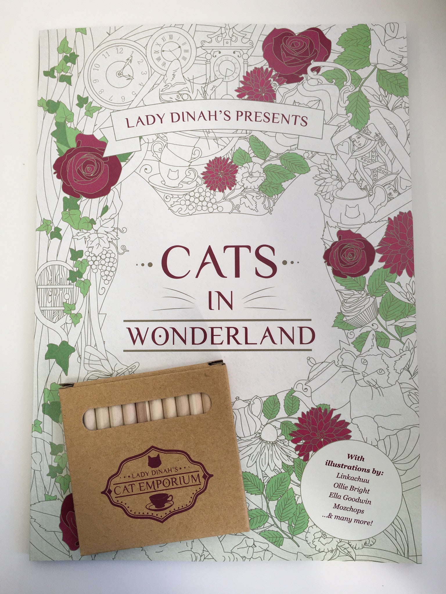 Lady Dinahs Exclusive Cat Colouring book - inside