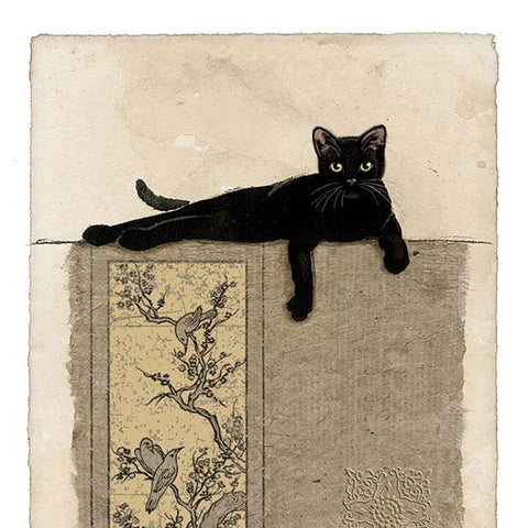 Resting Cat Greeting Card
