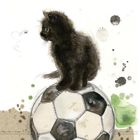 Football Kitten Greeting Card