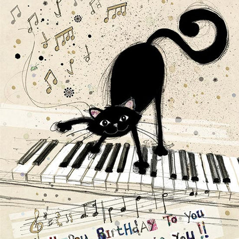 Keyboard Cat Greeting Card
