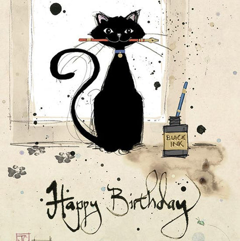 Ink Cat Greeting Card