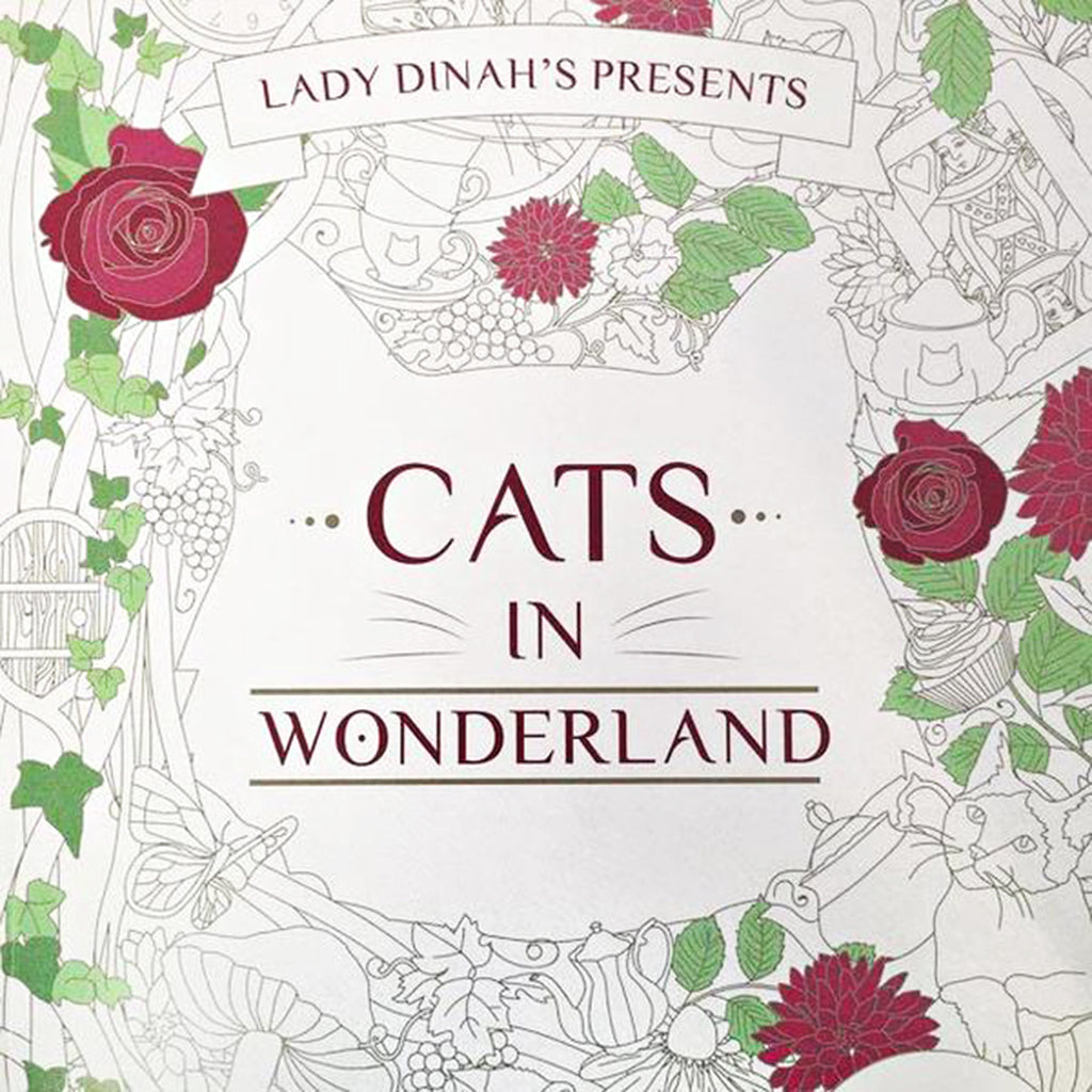 Lady Dinahs Exclusive Cat Colouring book - Cover