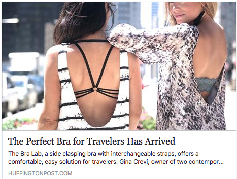 Huffington Post: The Perfect Bra For Travelers Has Arrived