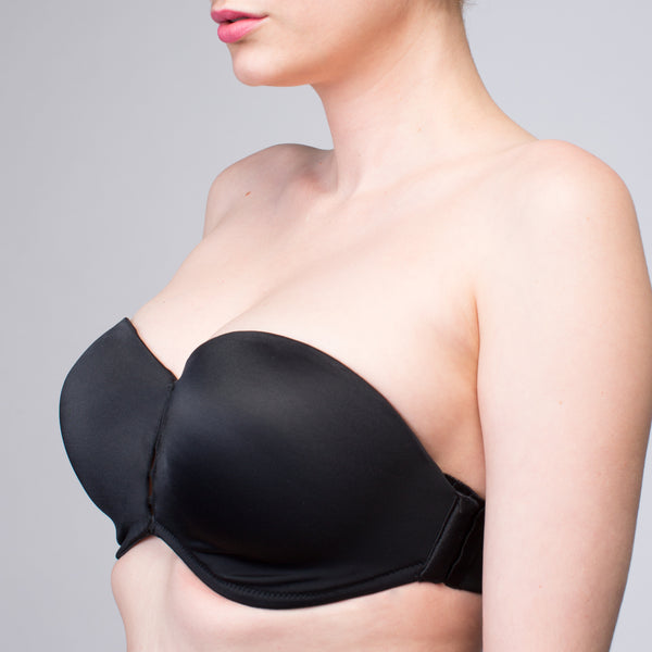 NEW Interchangeable Christina Black Push Up Optional Cup | The Bra Lab - The Bra Lab