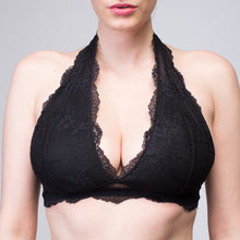 Load image into Gallery viewer, Interchangeable Bettina Black Wireless Lace Bralette | The Bra Lab - The Bra Lab