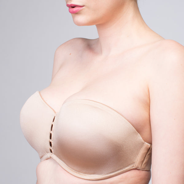 NEW Interchangeable Christina Beige Push Up Optional Cup | The Bra Lab - The Bra Lab