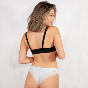 Cotton Lace Cheeky 2 Pack Underwear