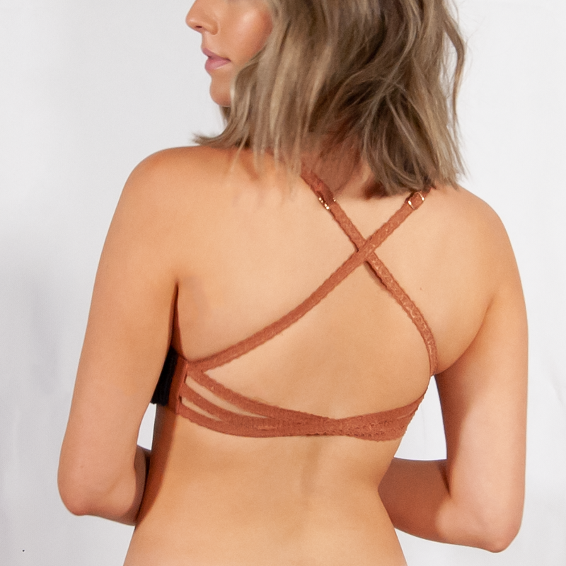 Amber Lace Cross Back Strap 2-in-1