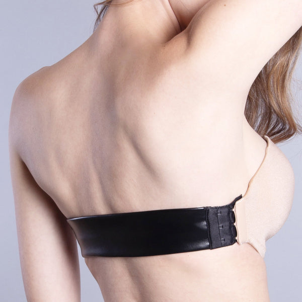 Prague Black Vegan Leather Interchangeable Back Strap | The Bra Lab - The Bra Lab