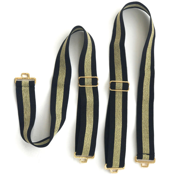 Monaco Metallic Stripe Shoulder Straps | The Bra Lab - The Bra Lab