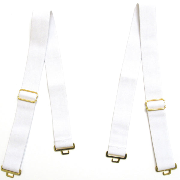 Miami White 1 Inch Shoulder Strap Set