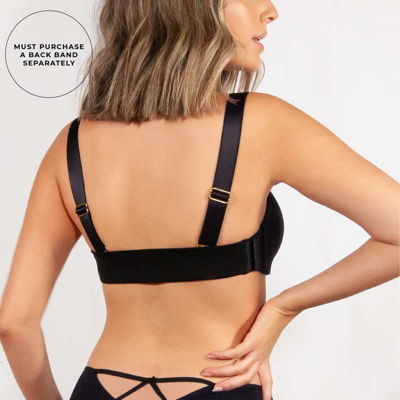 Rosanna Wireless Cup + Shoulder Straps Black