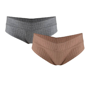 Ribbed Hipster Cotton Blend Brief 2 Pack Underwear