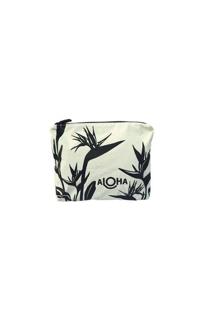 Birds of Paradise Small Pouch in White