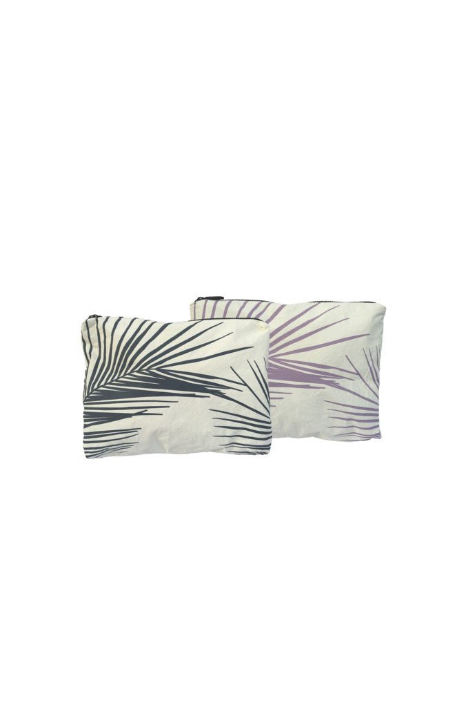 Fronds Small Reversible Pouch in Acai/Granite