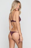 Manhattan Mesh Bikini Top in Merlot/Shadow