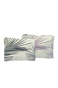 Fronds Mid-Size Reversible Pouch in Acai/Granite