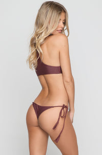 Kailua Mesh Bikini Top in Merlot/Shadow